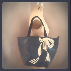 Iconic KATE SPADE B&W Laminated Canvas Tote
